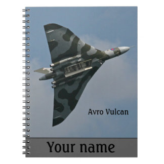 Avro Vulcan Bomber personalised Spiral Note Books
