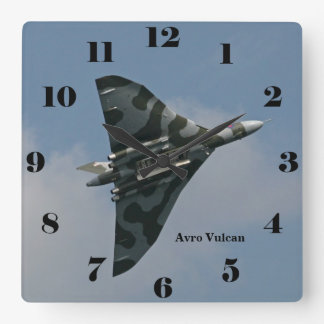 Avro Vulcan Delta Wing Bomber all numbers Square Wall Clock