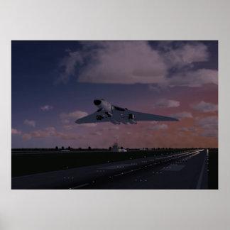 Avro Vulcan Taking Off Poster