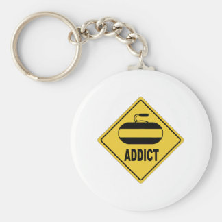 AW Curling Basic Round Button Keychain