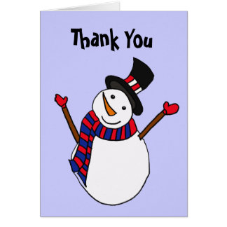 AW- Happy Snowman Thank You card