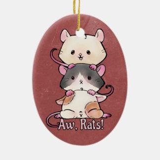 Aw, Rats! Ceramic Ornament