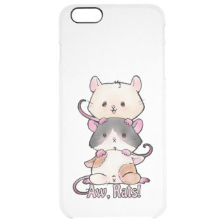 Aw, Rats! Clear iPhone 6 Plus Case