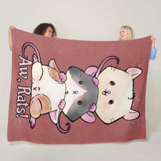 Aw, Rats! Fleece Blanket