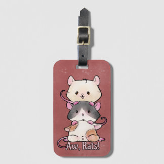 Aw, Rats! Luggage Tag