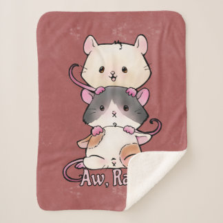 Aw, Rats! Sherpa Blanket