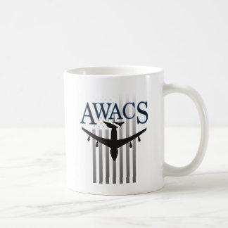 AWACS Sentry and US Flag Coffee Mug