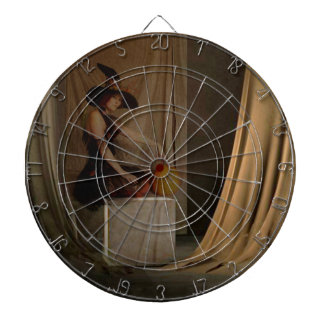 AWAITING THE WITCHING HOUR DARTBOARD