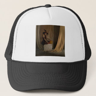 AWAITING THE WITCHING HOUR TRUCKER HAT
