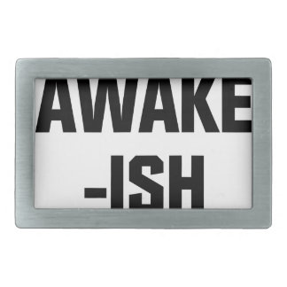 Awake-ish Rectangular Belt Buckles