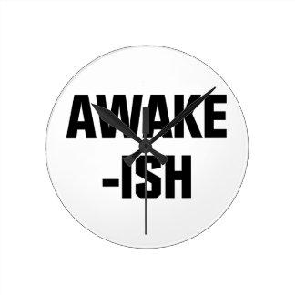 Awake-ish Round Clock