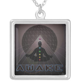 AWAKE LOGO2 SILVER PLATED NECKLACE