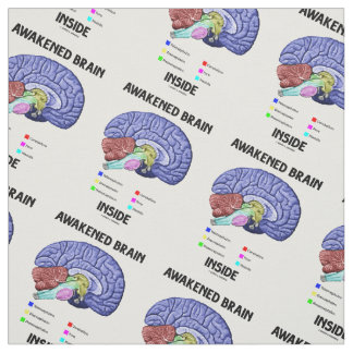 Awakened Brain Inside Brain Anatomy Geek Humor Fabric