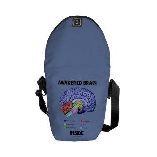 Awakened Brain Inside Brain Anatomy Geek Humor Messenger Bag