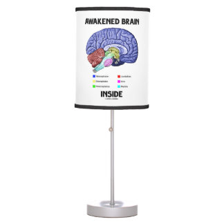 Awakened Brain Inside Brain Anatomy Geek Humor Table Lamp