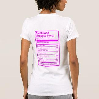 Awakened Israelite Facts (Pink) T-Shirt