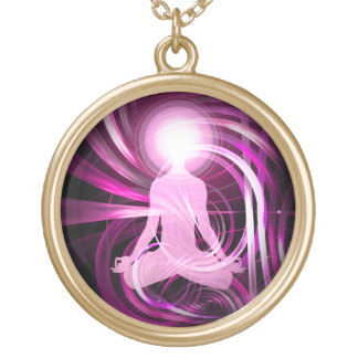 Awakening Light (wink) Gold Plated Necklace