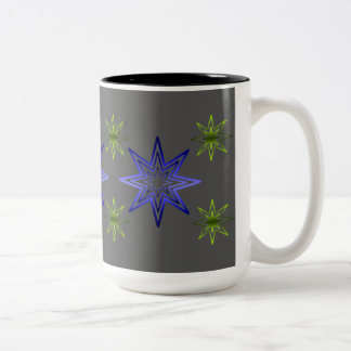 Awakening Star On Gray Two-Tone Coffee Mug
