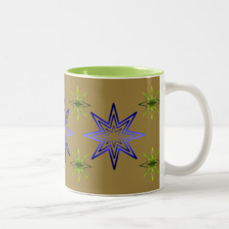 Awakening Star On Khaki Two-Tone Coffee Mug