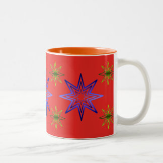 Awakening Star On Red Two-Tone Coffee Mug