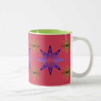 Awakening Star On Rose Two-Tone Coffee Mug