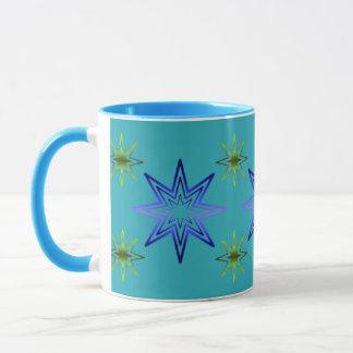Awakening Star On Turquoise Mug