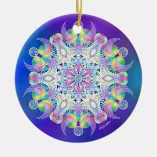 Awakening to Unity Round Ceramic Ornament