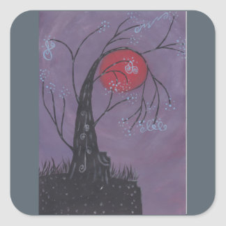 Awakening Tree Square Sticker