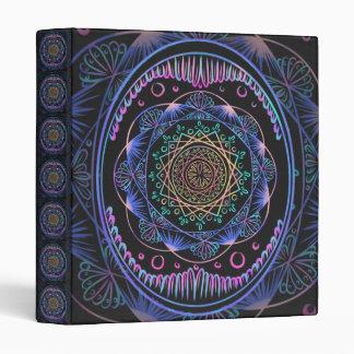 Awakening zen pattern, reiki, healing, chakra 3 ring binder