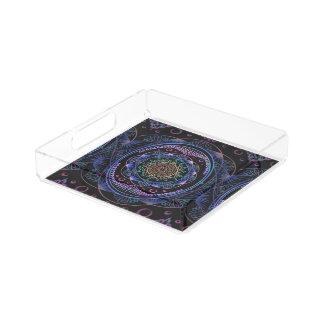 Awakening zen pattern, reiki, healing, chakra acrylic tray