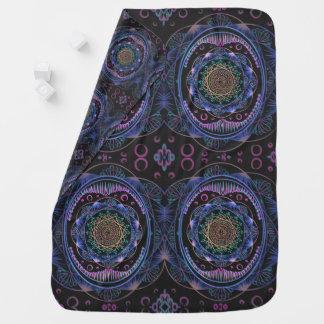 Awakening zen pattern, reiki, healing, chakra baby blanket