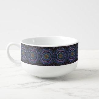 Awakening zen pattern, reiki, healing, chakra soup mug