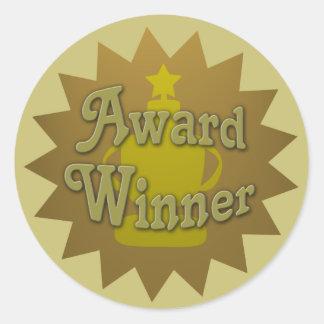 Award Winner Book Promo Round Sticker