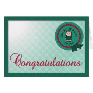 Award Winning Friend Congrats Card