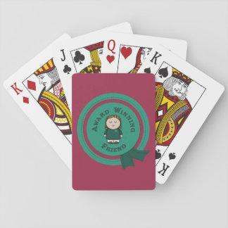 Award Winning Friend Playing Cards