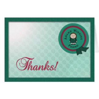 Award Winning Friend Thank you  Card