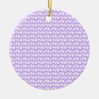 Awareness Butterflies on Lilac Purple Round Ceramic Ornament