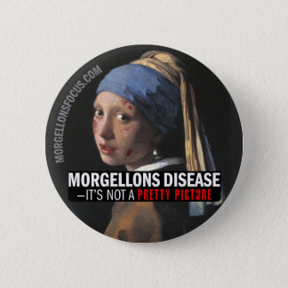 Awareness Button – Girl with earring