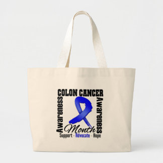 Awareness Month - Colon Cancer Jumbo Tote Bag