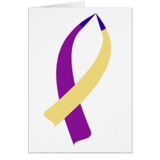Awareness Ribbon (Bladder Cancer) Card