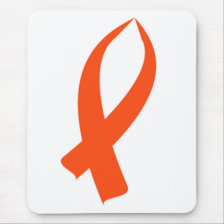Awareness Ribbon (Orange) Mouse Pad