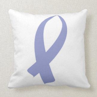 Awareness Ribbon (Periwinkle) Throw Pillow
