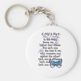 Awareness tee Butterfly Child copy Basic Round Button Keychain