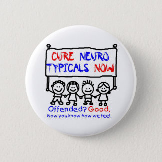 Awareness tee nerotypical 2 inch round button