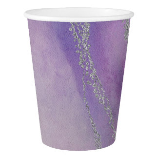 Awash Elegant Watercolor in Orchid Wedding Paper Cup