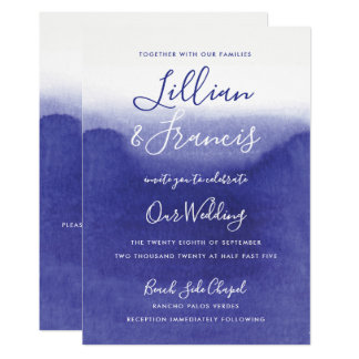 Awash with Purple Amethyst Watercolor Wedding New Card