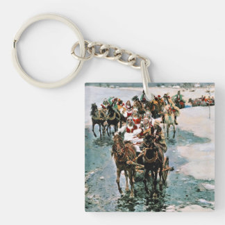 Away Bride Double-Sided Square Acrylic Keychain