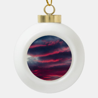 away from our window ceramic ball christmas ornament