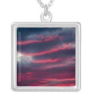 away from our window silver plated necklace