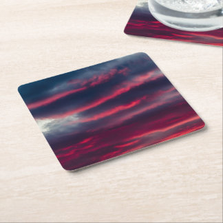 away from our window square paper coaster